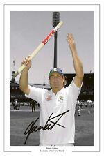 Shane warne final test match de cricket signé imprimé photo