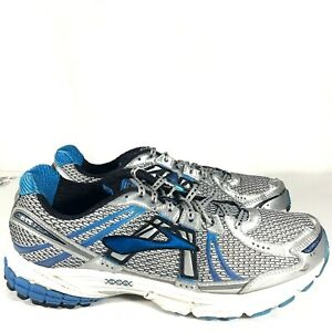 ae741421ec19a Brooks Adrenaline GTS 12 Men s Size 9 Silver Blue Athletic Running ...