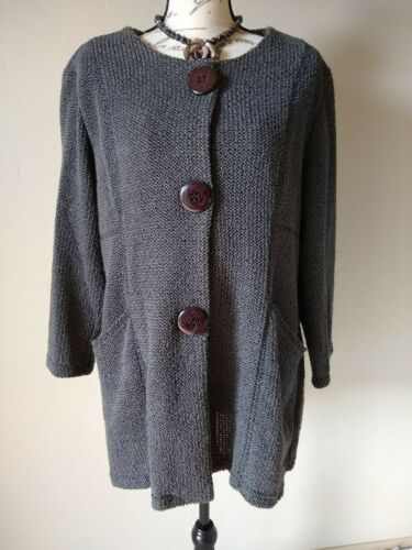Yushi Women Cotton Blend Jacket Cardigan  Artsy Bu