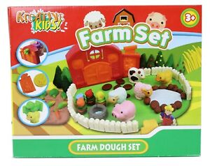 Children-039-s-Play-Dough-Set-Kids-Animal-Farm-Modelling-Toy-Tools-Moulds-Fun-Kit