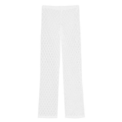 Mens Mesh See Through Lounge Pants Breathable Trousers Sleep Nightwear Pajamas