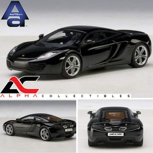 Autoart 56005 1 43 Mclaren Mp4-12c (Zafiro Negro) supercoche supercoche supercoche Modelo Diecast Car 63b298