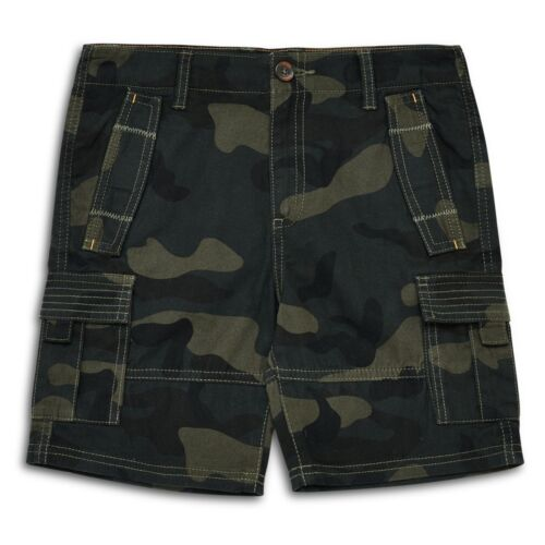 Kids Cargo Shorts Camouflage Multipocket Boys Shorts Army Print Combat Cotton