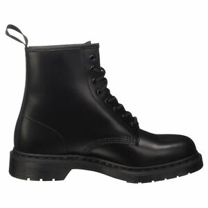 07e39156 Dr.Martens 1460 8 Eyelet Mono Smooth Black Mens Womens Unisex Boots ...