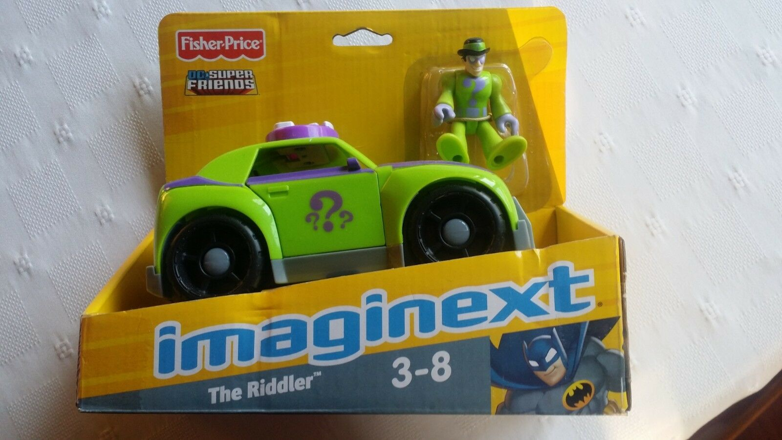 Fisher -Price imaginext DC Super vänner The Riddler and bil Colleptible