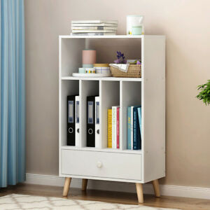 Storage-Cabinet-Bedside-Table-Bookcase-Unit-Drawer-Shelf-Legs-5-Cubes-Furniture