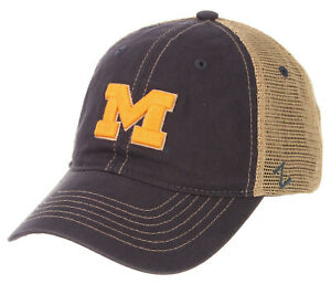 MICHIGAN-WOLVERINES-NCAA-SLOUCH-TRUCKER-UNSTRUCTURED-SNAPBACK-Z-CAP-HAT-NWT