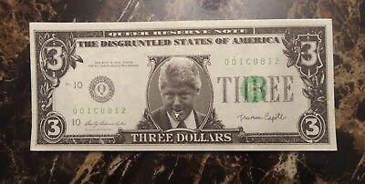 1998 Bill Clinton /& Monica Lewinsky $1,000,000 Novelty Bill ~ Milk Mouth /& Slick