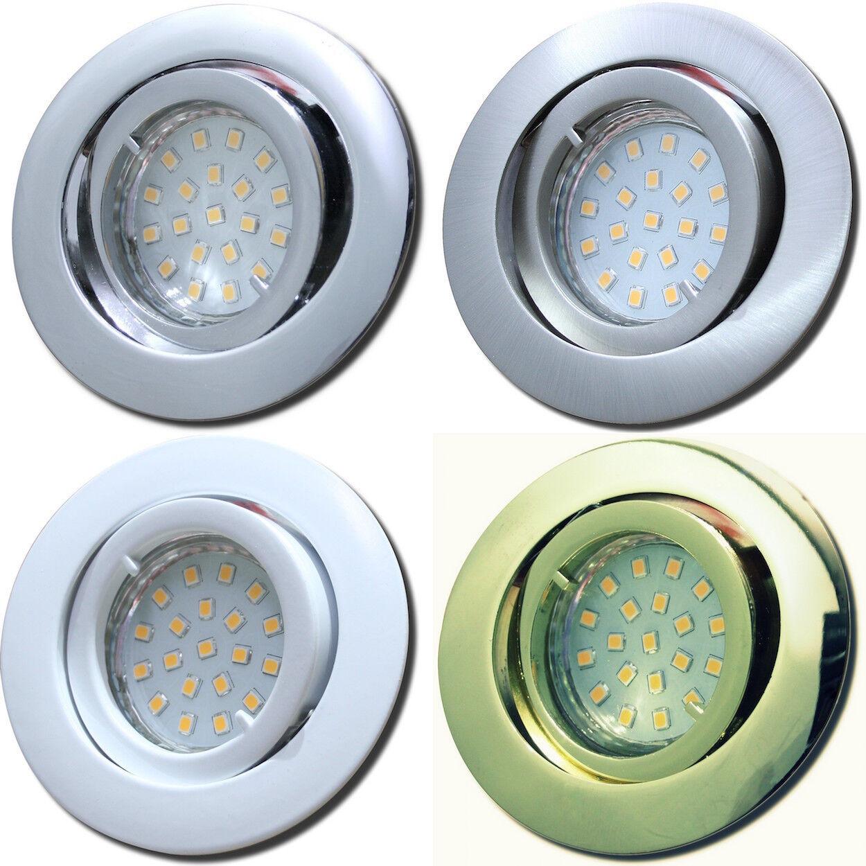 Gu10 Downlight   LED   Einbaustrahler   Wohnraum   Flur   230V   Spots    3Watt