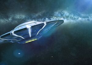 A3-Awesome-Flying-Saucer-Poster-Size-A3-UFO-Aliens-Space-Poster-Gift-15970