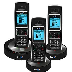 bt 6510 trio digital cordless telephone with answering. Black Bedroom Furniture Sets. Home Design Ideas