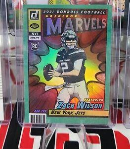 Zach Wilson Gridiron Marvel Donruss Football 2021 New York Jets SSP Rare Rookie