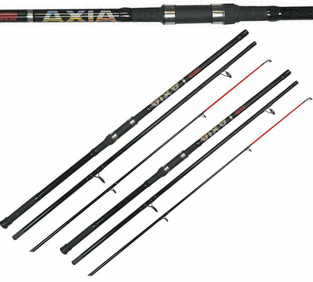 2x Tronixpro Axia Rod 12ft 3pc Sea Fishing Surf strandCaster Pier Casting 3-6oz