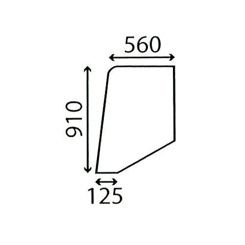 DOOR GLASS FITS CASE INTERNATIONAL 395 495 595 695 795 895 TRACTORS L CAB.