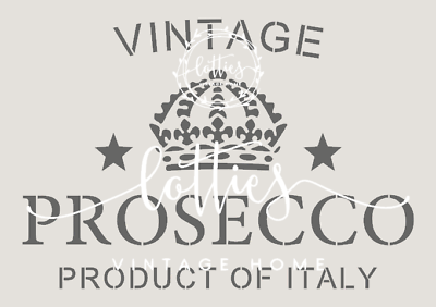 238 MYLAR STENCIL DRINK PROSECCO  FRENCH VINTAGE Craft Art 125 micron A3//A4