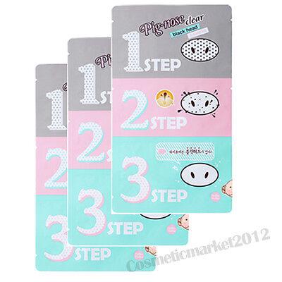 Holika Holika Pig-Nose Clear Black Head 3-Step Kit 3pcs Free gifts