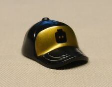 NEW Lego City Minifig Hat Baseball Cap Short Curved Bill with GOLD MINIFIG HEAD