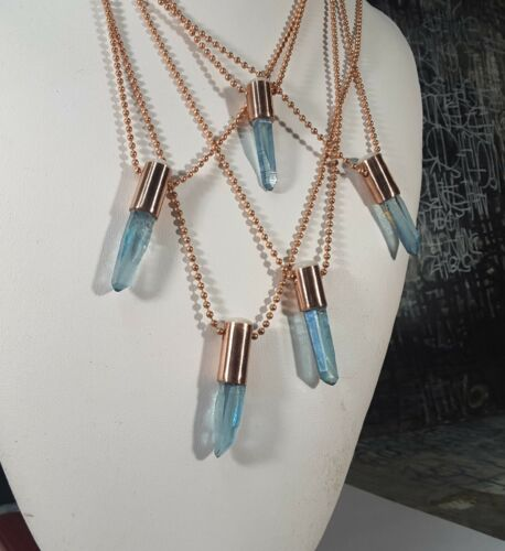Arthritis Copper Jewellery/_ #1,#5 Aqua Aura CRYSTAL Orgonite PENDANT