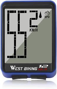 ICOCOPRO Vélo Ordinateur Big Digit Vélo Compteur De Vitesse Odomètre Sans Fil Imperméable /&