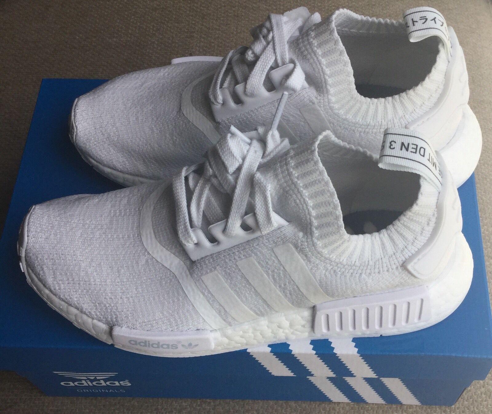 Adidas nmd primeknit monochrome vintage weiße ba8630 größe 6 männer