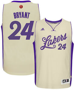 new style d6cc8 02a6b Details about Kobe Bryant #24 Los Angeles Lakers MENS CHRISTMAS DAY  Swingman adidas Jersey