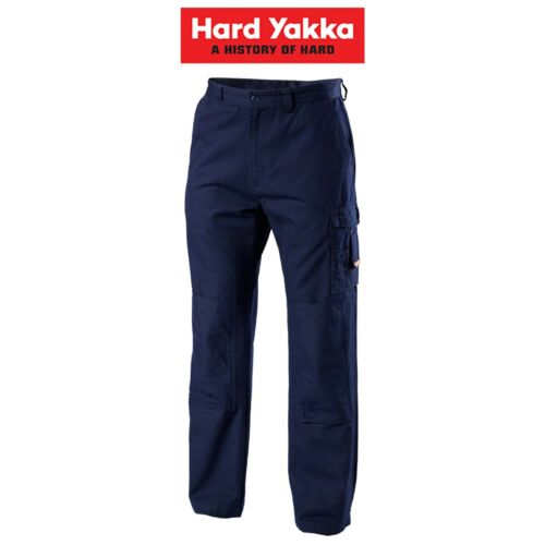 Mens Hard Yakka Legends Light Weight Cotton Pants Tough Cordura Work Y02906