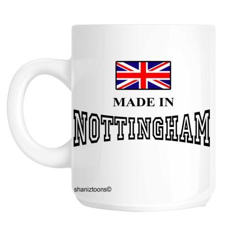 Made né à nottingham cadeau d/'anniversaire tasse shan 525