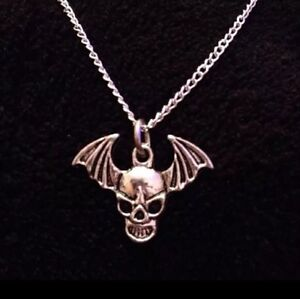 Details about Avenged Sevenfold Necklace Death Bat Charm Pendant A7X Chain  Skull Wings *UK*