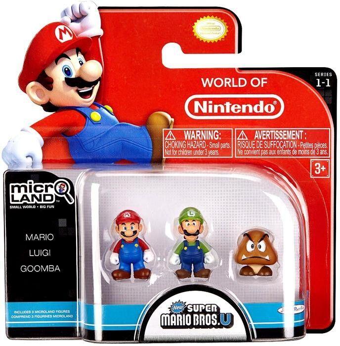 Micro Land Serie 1 Mario, Luigi & & & Goomba Mini Figura 3-Pack 642d6e