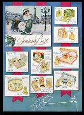 1949 Coty Paris Emeraude Chypre Cinderella Slipper Xmas gifts vintage print ad