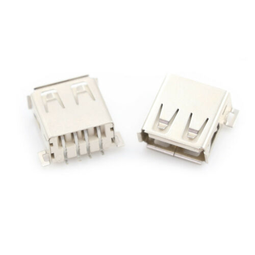 10pcs USB Type A 180 Degrees Socket Female Solder Plug Adapter Connector KKBSB$
