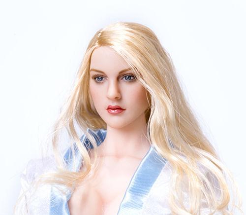 "1//6 KIMITOYS KT007 European Girl  Female Head Sculpt Fit 12/"" Figure Body"