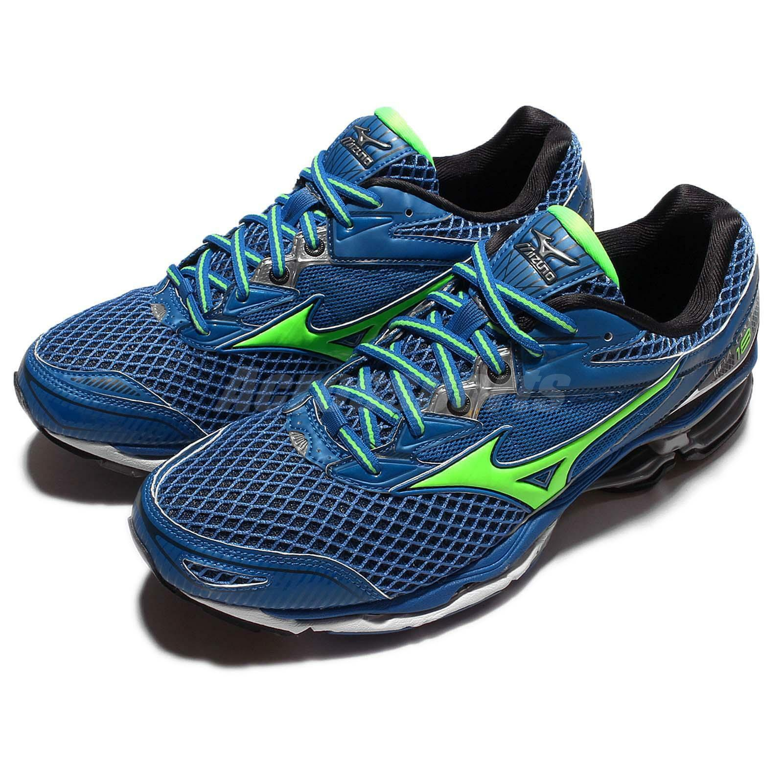 Mizuno Wave Creation 18 Blue Green Sprite Men Running Shoes Sneakers J1GC1601-41