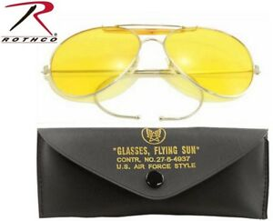 4503ef7aa54 Image is loading Yellow-Lense-US-Air-Force-Style-Military-Sunglasses-