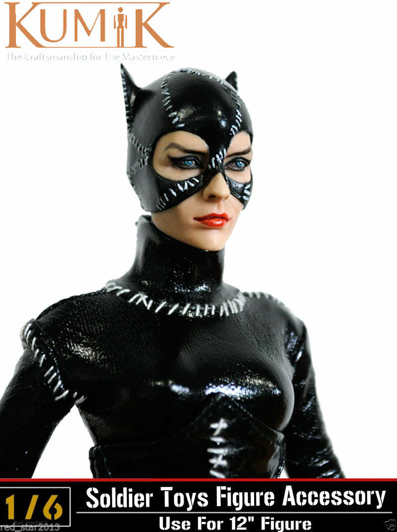 1 6 KUMIK KMF022 Catwoman Selina Kyle Batman Box_Set Figure Model W Stand