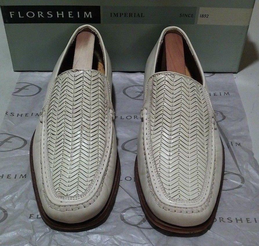 New Florsheim Imperial Henry 9 EEE beige wicker wicker wicker calf leather (609) 5519f6