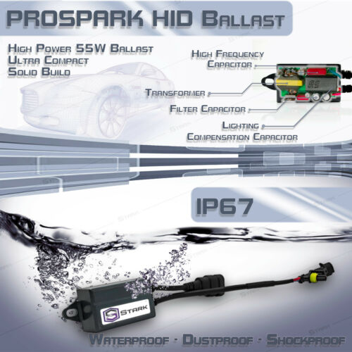 H11 H9 H8 6K 6000K Ice White Q Stark 55W Micro HID Fog Light Slim Xenon Kit