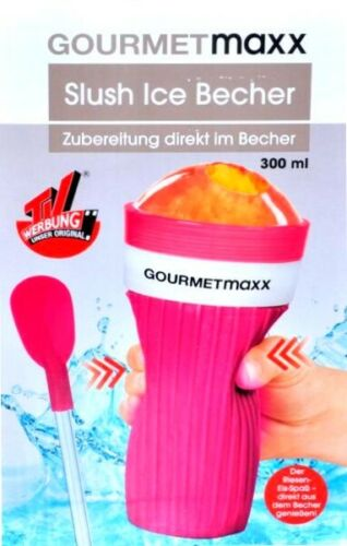 GOURMETmaxx Slush-Eis-Becher Slush-Eis Ice selbstgemacht Eisbecher Slusheis rot