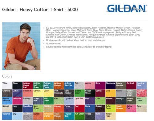 Blank Heavy Cotton T-Shirts Bulk Wholesale Lot S-XL