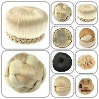 Hair Bun Extension Hairpiece Stylish Easy Updo For Ballet Prom Bridal Dance Work