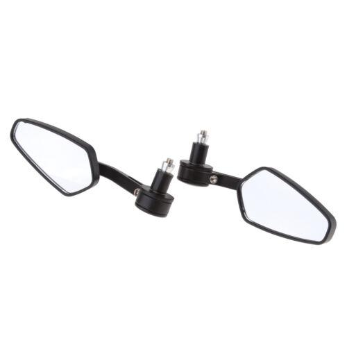 "Universal 7//8/"" 22mm Handle Bar Rearview Mirror Motorbike Side Mirror Silver"