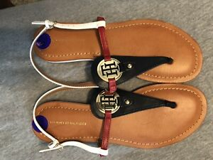 official arrives 100% high quality Tommy Hilfiger Genei Sandals Us 8.5 Navy | eBay