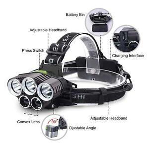 90000LM-5X-T6-LED-Headlamp-USB-Rechargeable-Head-light-18650-light-Lamp-Torch-N
