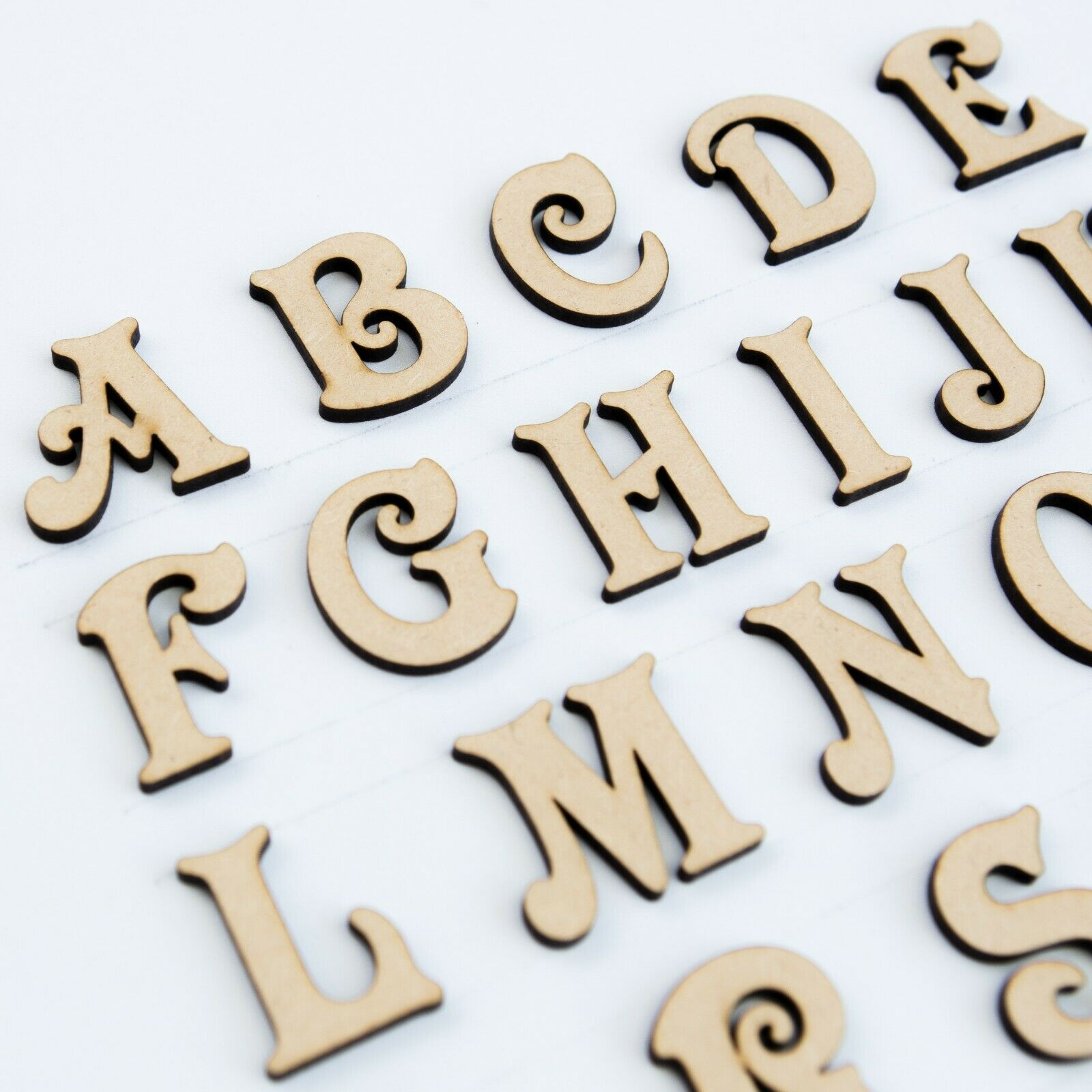 18mm thick //Valentine//Wooden craft Victorian letters with heart in MDF