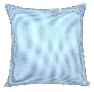 Ra002a Blue White Checker Soft Cotton Fabric Cushion Cover//Pillow Case*Custom
