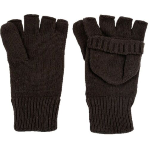 MENS FINGERLESS SHOOTER MITTS 100/% ACRYLIC ARMY GLOVES MITTENS SHOOTING HUNTING