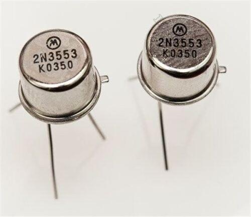 2 Stücke 2N3553 Transistoren Mot BIS-39 Ic Neu pu