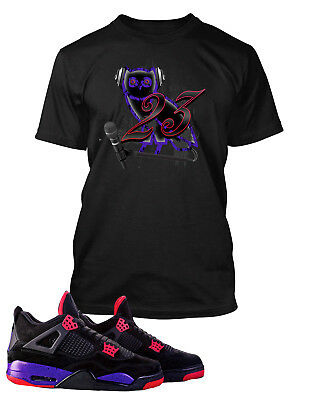 To Match Jordan 4 Raptor Shoes Future and Young Thug Graphic Tee Shirt No Cap