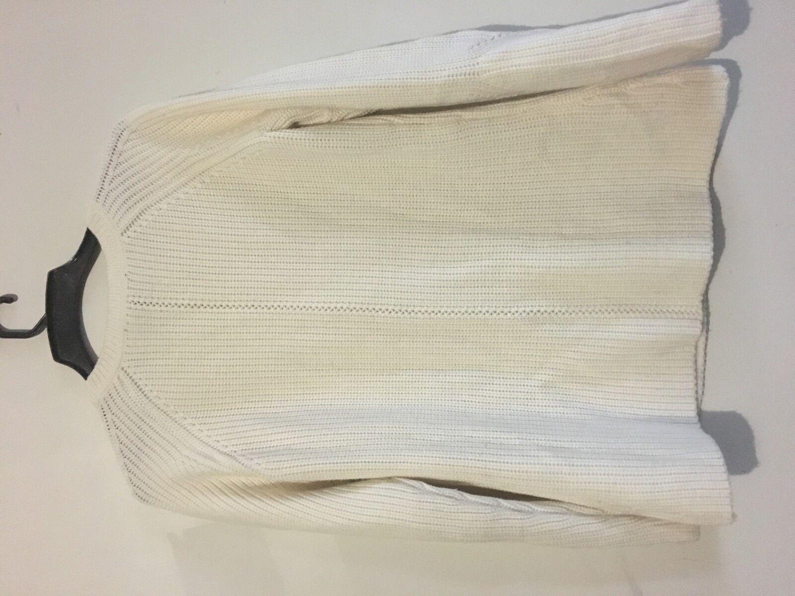 Etcetera Wool Wool Wool Blend Cream Knit Cable Size M Women Stylish Sweater ea87c3
