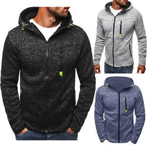 Mens-Winter-Slim-Fit-Hoodie-Hooded-Zip-Sweatshirt-Coat-Jacket-Outwear-Sweater-AU